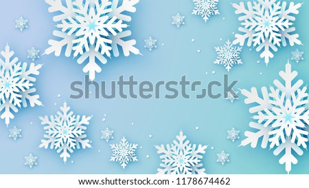 snowflakes design for winter