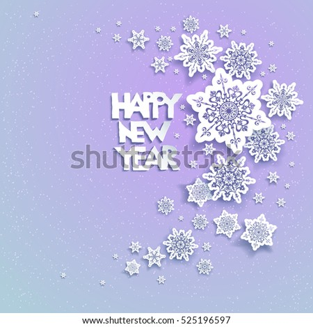snowflakes holiday background 02