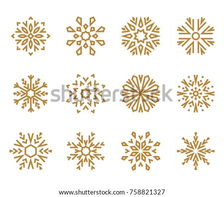 snowflakes icon collection 2