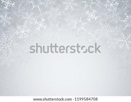 snowflakes in christmas