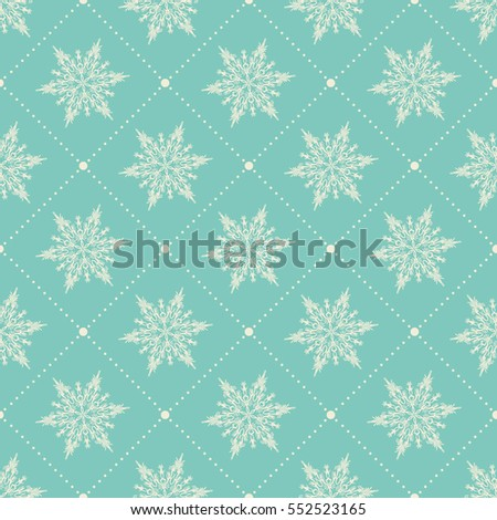 snowflakes pattern endless