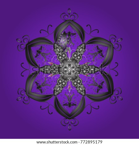 snowflakes pattern flat design