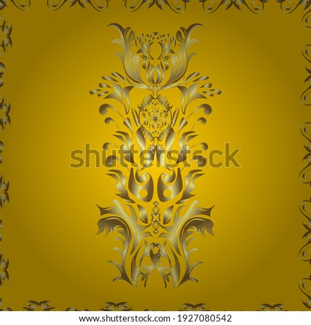 Snowflakes pattern. Snowflake ornamental pattern. Flat design with abstract snowflakes isolated on background. Snowflakes background. Vector illustration.