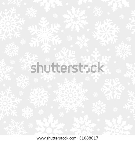 Snowflakes seamless background. (See more seamless backgrounds in my portfolio).