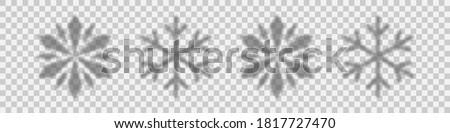 snowflakes shadow shadow of