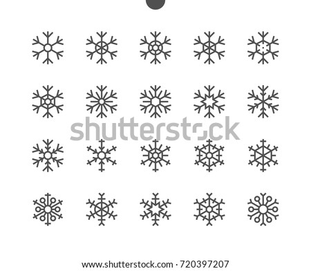snowflakes ui pixel perfect