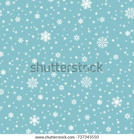 snowflakes vector seamless...