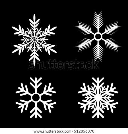 stock-vector-snowflakes-vector-set-white-snow-flake-icon-set