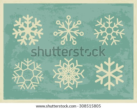 snowflakes vintage collection...