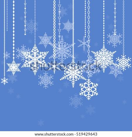snowflakes winter holidays