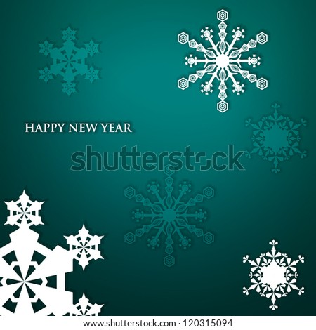 Snowflakes with text.