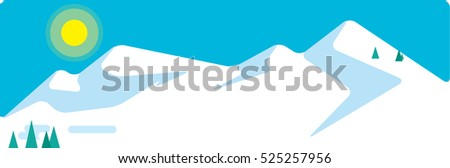 snowing skiing mountains