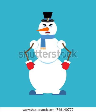 snowman angry snowman evil