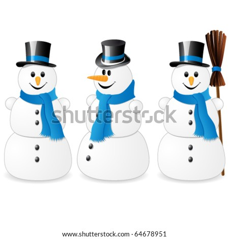 snowman blue collection