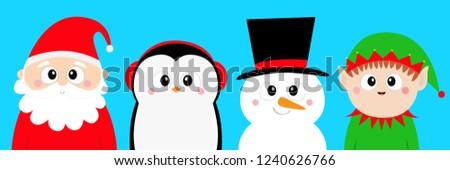 snowman santa claus elf penguin
