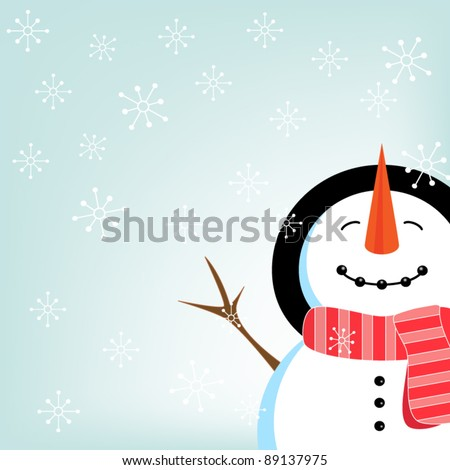Snowman vector - stock vector