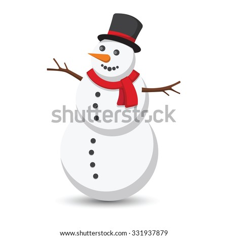 snowman vector illustration on