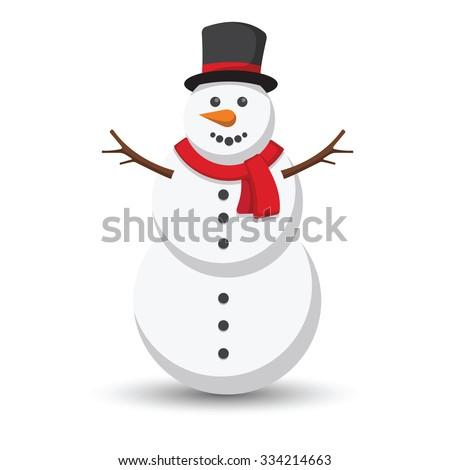 snowman vector illustration on