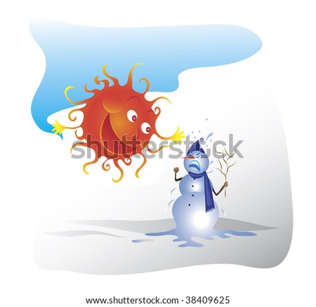 Snowmen and sun