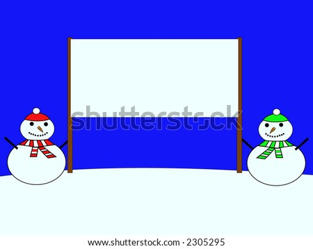 snowmen dressed in hat and