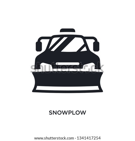 snowplow isolated icon. simple element illustration from winter concept icons. snowplow editable logo sign symbol design on white background. can be use for web and mobile