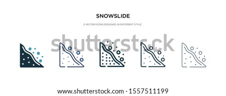 snowslide icon in different