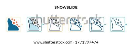 snowslide vector icon in 6