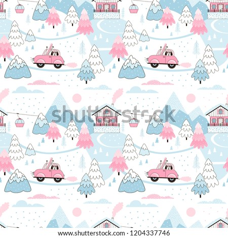 snowy alpine winter landscape