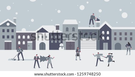 snowy buildings and fun