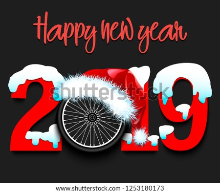 snowy new year numbers 2019 and