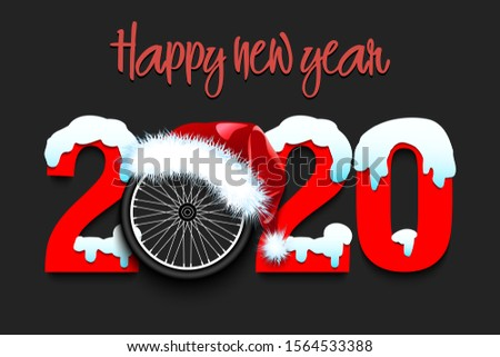 snowy new year numbers 2020 and
