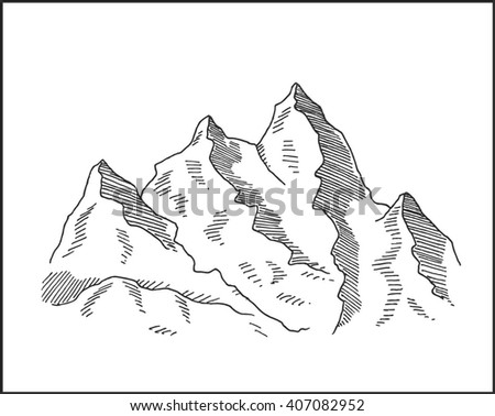 snowy peaks and mountain rocks