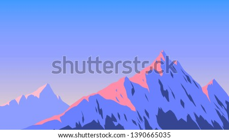 snowy top of the mountain