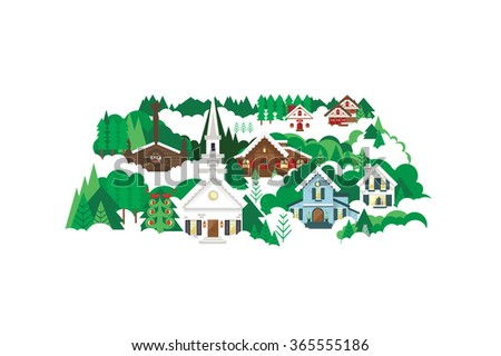 snowy winter christmas village