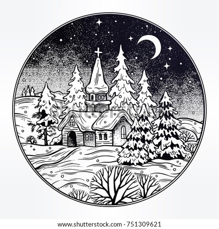 snowy winter landscape. the...