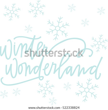 snowy winter  wonderland