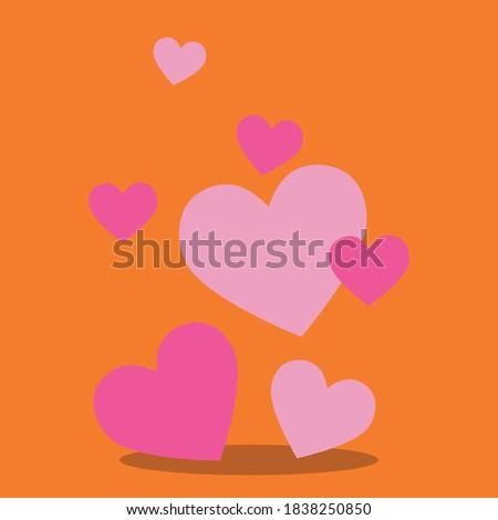 snuggle fox hearts design vector illustration Photo stock ©