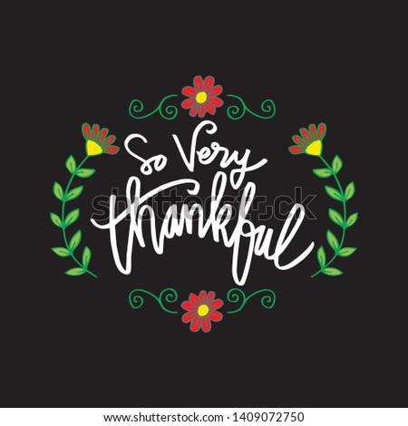So very thankful greeting card. Сток-фото ©