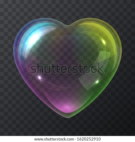 soap bubble heart isolated on a