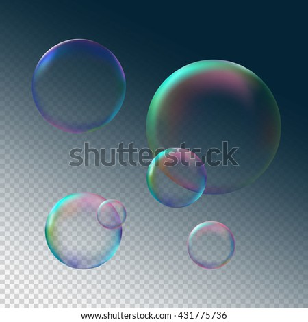 soap bubble on grey dark black