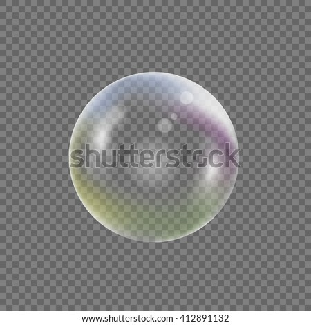soap bubble on transparent