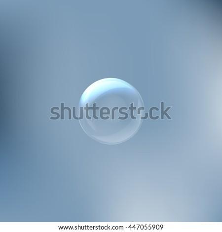 soap bubble stock vector icon