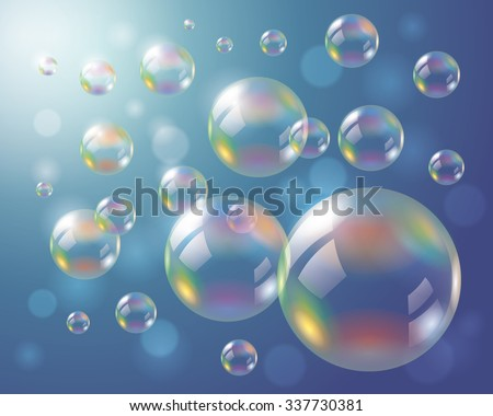 soap bubbles background eps10