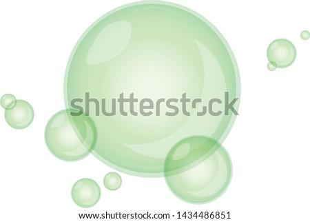 Soap bubbles. Cartoon Soap bubbles. Transparent Soap bubbles. Vector Soap bubbles