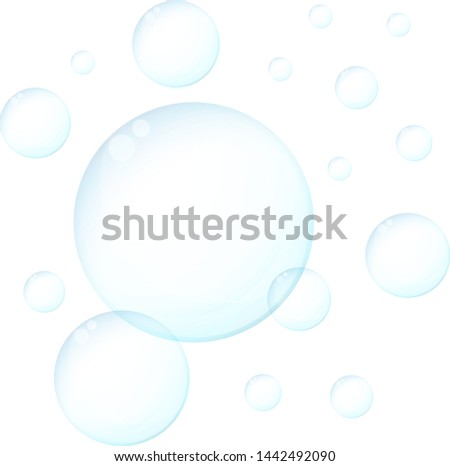 Soap bubbles over white background. Vector illustration design.