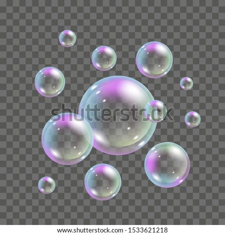 soap bubbles with rainbow