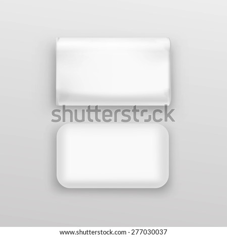 Soap Packaging Package Pack Box White Round Set Isolated Vector Illustration