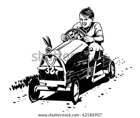 soapbox racer   retro clipart...