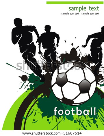 Soccer Action player. Isolated Team on white Background. Original Vector illustration sports series. Abstract Classical football poster - stock vector