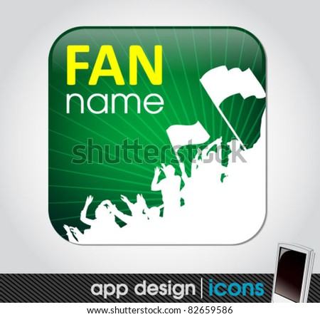 sports fan icon. soccer and sports app icon for mobile devices fan